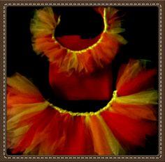Phoenix Collar & Skirt Costume