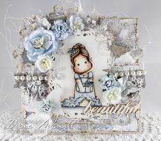 ♥ DeeDee's Card Art ♥ Stamp is of Magnolia, papers of MajaDesign and all embellishments from the Live & Love Crafts Shop