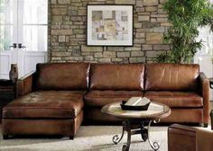 Braune Sofas Wohnzimmer - Alton Brown Design Grey Leather Sectional, Sectional Sofa With Chaise, Cozy Sofa, Leather Reclining Sofa, Modern Leather Sofa, Leather Furniture, Sofa Furniture, Sofa Set, Alton Brown