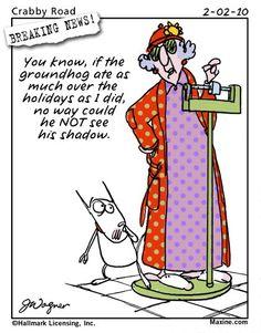 Groundhog Day Humor: Maxine on Groundhog Day