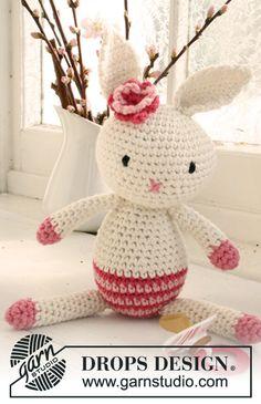 Miss Mew Bunny By DROPS Design - Free Crochet Pattern - (garnstudio)