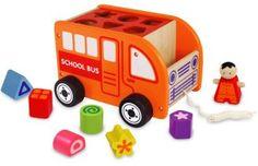 Toys :: Shape Sorter - School Bus Wooden Toy -