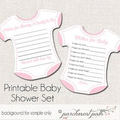 This listing is for an INSTANT DOWNLOAD of a personalized baby shower keepsake set. Have your shower guests fill it out to share with your baby as