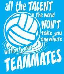 Volleyball - be a team player. It's definitely a TEAM sport. Volleyball Motivation, Funny Volleyball Shirts, Volleyball Memes, Volleyball Outfits, Coaching Volleyball, Volleyball Players, Volleyball Gifts, Volleyball Setter, Cheerleading