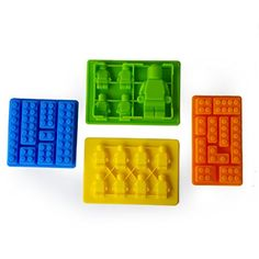 Make Lego Minifigure and Bricks Silicone Cake PAN Birthday Party Candy Chocolate Molds Set of 8