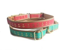 Nautical Martingale Dog Collar by MuttsnBones on Etsy