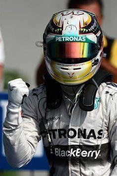 Race winner Lewis Hamilton (GBR) Mercedes AMG F1 Celebrates in parc ferme. Formula One World Championship, Rd13, Italian Grand Prix, Monza, Italy, Race Day, Sunday, 7 September 2014