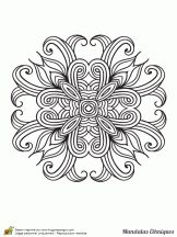 Coloriage mandala ethnique sur Hugolescargot.com