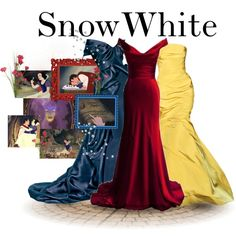 Disney Style- Snow White: just need something to cover the shoulders Disney Prom Dresses, Disney Outfits, Cute Outfits, Snow White Outfits, Disney Mode, Disney Bound, Disneybound Outfits, Disney Inspired Fashion, Disney Fashion