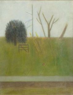 This wistful oil on canvas by Craigie Aitchison, CBE, RA sold by auction at Bonhams , New Bond Street this week for F. Knife Art, Bond Street, Palette Knife, Figurative Art, Oil On Canvas, Perspective, Artworks, Places To Visit, Bright