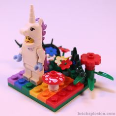 Lego Minifigure Series 13 Vignette Habitat for the Unicorn Girl