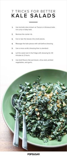 When made properly, a kale salad is pretty much perfect — it's sturdy (making it great for brown bag lunches), flavorful, and virtuous-feeling. When made inexpertly, a kale salad can be leathery, bitter, and nearly inedible. The difference? A few key (but simple) steps: