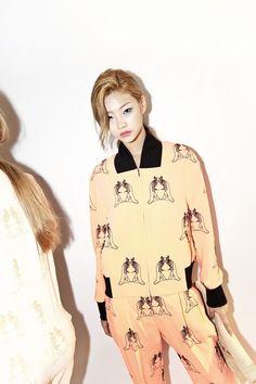 Jung Ho Yeon at S=YZ Spring 2015 Seoul Fashion Week shot by Lee Jae Doo