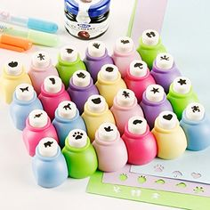 24 Pieces Set Mini Scrapbook Punches Handmade Cutter Card Craft Calico Printing DIY Flower Paper Craft Punch Hole Puncher Shape ** Want additional info? Click on the image.