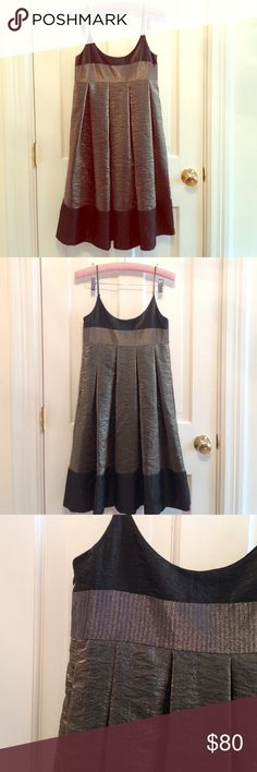 Stunning Laundrey by Shelli Segal Dress Absolute showstopper. Empire waist, gray/moss green metallic. Can't see it on a hanger, but is very low cut. Laundry by Shelli Segal Dresses