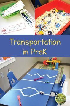 Transportation Preschool Activities, Transportation Unit, Train Activities, Preschool Themes, Preschool Classroom, Preschool Learning, Teaching, Owl Classroom, Sensory Activities