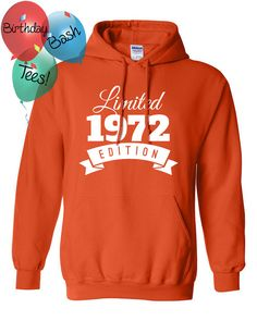 1972 Birthday Hoodie 44 Limited Edition by BirthdayBashTees