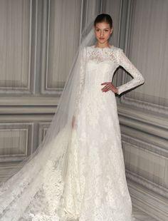Monique Lhuillier - High Neck A-Line Gown