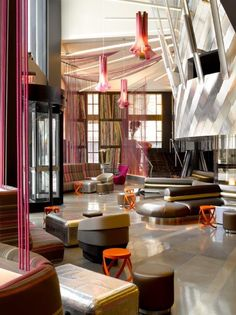 Alex Hayden, Commercial Spaces Photography, Pink and Grey Lobby #interiorphotography #interiordesign #hotelremodel