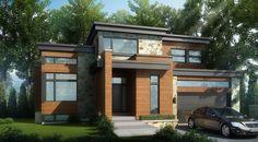 Imaginé par Les Constructions Raymond et Fils, Le Châtaignier à toit plat est un cottage à l'architecture contemporaine niché au coeur des Laurentides.