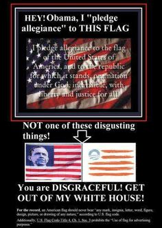 SERIOUSLY!! I don't pledge allegiance to either flag cuz I live in Canada, but seriously!! This needs to stop!!