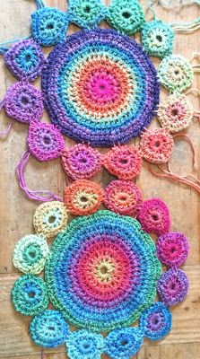 Destination Amanda Perkins - Crochet Colour Wheels