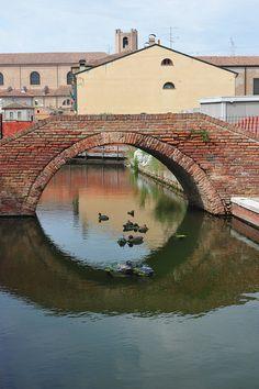 Comacchio, Italy ~ UNESCO World Heritage Site.  Photo: tango- via Flickr