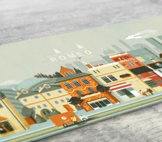 Illustration - Romeo on Behance - Charlie Davis Logo Design, Graphic Design, Flat Design, Cute House, Beautiful Posters, Visual Development, Flat Illustration, Illustrations And Posters, Creative Business