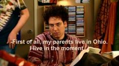 """""""...I live in the moment."""" Ted Mosby, HIMYM"""