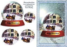 - A very nice christmas card, that you can send to anyone, and veryeasy to make. Christmas Decoupage, Snowball, Christmas Cards, Card Making, Basket, Nice, Weihnachten, Cards, Christmas E Cards