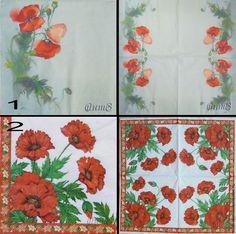 Купить салфетки декупаж цветы мак маки маковое поле принт - салфетки, Декупаж