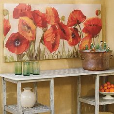 Spring Poppies Outdoor Wall Art