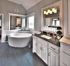 faucets - cabinets - sinks - granite - tile floor - wall color