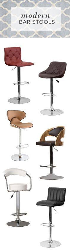Bar stools are key to achieving your dream modern kitchen. From sleek high-shine style to more subdued rustic or industrial, AllModern has the bar stool for you. FREE SHIPPING on orders over $49.