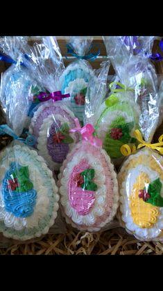 Easter Eggs, Icing, Desserts, Food, Tailgate Desserts, Deserts, Essen, Postres, Meals