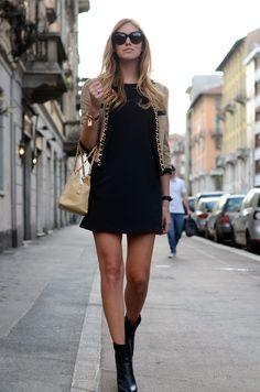 Vestido preto  Foto: The Blonde Salad / Reprodução