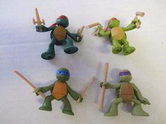 """Ninjas in Training Teenage Mutant Ninja Turtles Set 4 Action Figures TMNT 2 1/4"""" #Unknown"""