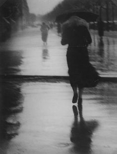 In the absence of a subject with which you are passionately involved, and without the excitement that drives you to grasp it and exhaust it, you may take some beautiful pictures, but not a photographic oeuvre. GEORGE BRASSAI passers-by in the rain , 1935 Vintage Photography, Street Photography, Art Photography, Fashion Photography, Walking In The Rain, Singing In The Rain, Musée National D'art Moderne, Arte Black, Idda Van Munster