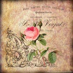 Decoupage in Perm Decoupage Vintage, Decoupage Paper, Vintage Paper, Color Balance, Rose Design, Vintage Roses, Shabby Chic Decor, Vintage Images, Paper Dolls