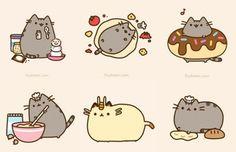O gato Pusheen de pelúcia.