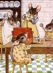 Another cute picture I just 'had' to pin -   As long as this is just in story land... not real mice in my real kitchen ;->
