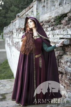 SALE Wool Hooded Cloak Sansa by armstreet on Etsy
