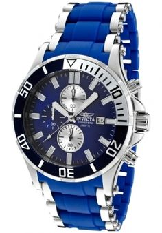 Invicta Men's Sea Spider Chronograph Blue Dial Stainless Steel Watch
