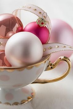 Pink and Gold Ornaments