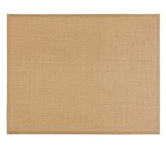 Color-Bound Natural Sisal Rug, 8x10', Chino Border