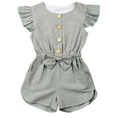 This classy romper is gorgeous as it looks! Our Luna Grau Romper is perfect for … This classy romper is gorgeous as it looks! Our Luna Grau Romper is perfect for parties, wandering and photo shoot for her! She'll have everyone staring! Baby Girl Dresses, Baby Outfits, Toddler Outfits, Baby Girl Fashion, Toddler Fashion, Kids Fashion, Fashion Clothes, Little Girl Clothing, Baby Girl Clothing