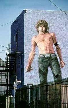 Jim Morrison art Venice, California