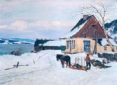 The Farm On The Hill Artwork By Clarence Gagnon Oil Painting & Art Prints On Canvas For Sale Canadian Painters, Canadian Artists, Quebec, Clarence Gagnon, Of Montreal, Art Prints For Sale, Sculpture, Illustrations, Artist Art