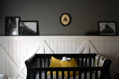 Gray Vintage Train Nursery - super-sweet for a baby boy!