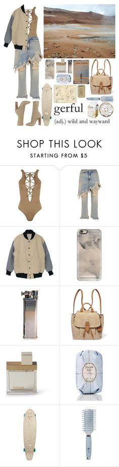 """""""To Go when in Distress"""" by shelcity ❤ liked on Polyvore featuring WearAll, R13, Casetify, MICHAEL Michael Kors, Dsquared2, Moleskine, Fresh, Quiksilver and Goody"""